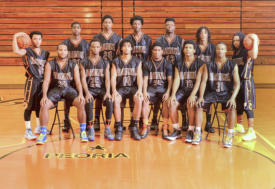 2013- 2014 Peoria Manual Varsity Boys' Basketball Team Shot1